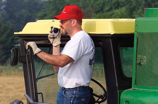 tractor farmer on radio