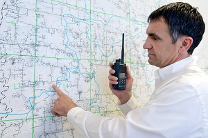 fire chief with two way radio