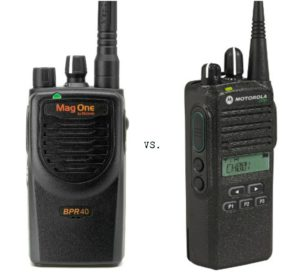 BPR40 & CP185 Motorola two-way radios
