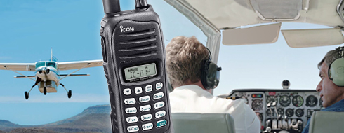Pilots communicating with two-way radios