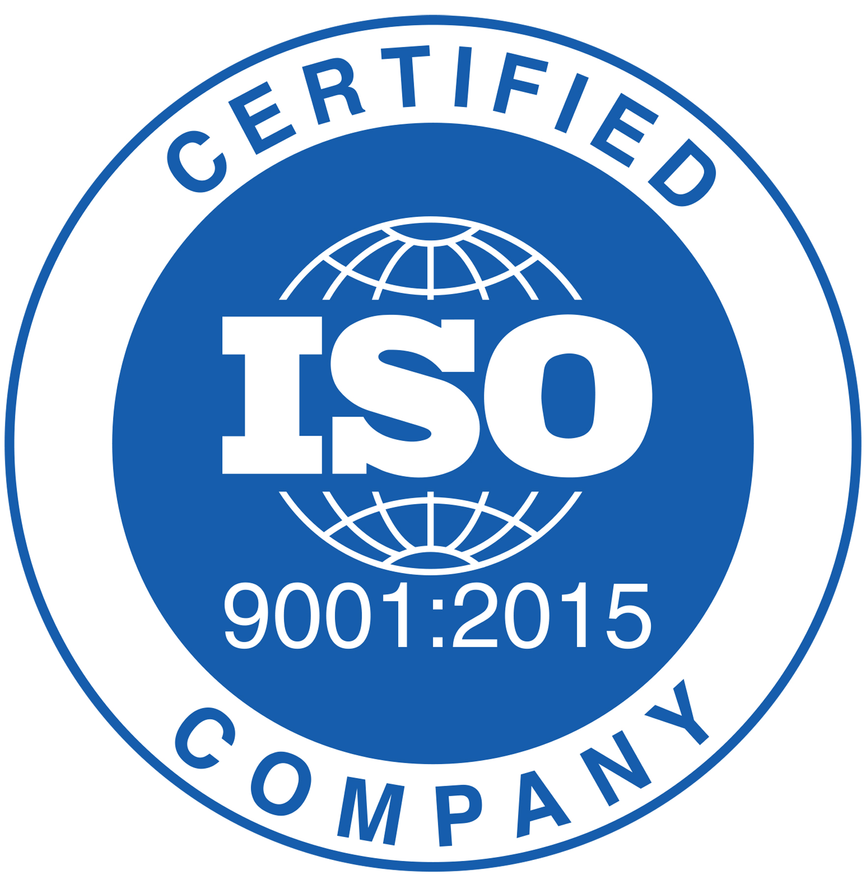 iso 9001:2015 certified company logo