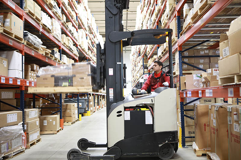 two-way radio system for warehouse forklift operators
